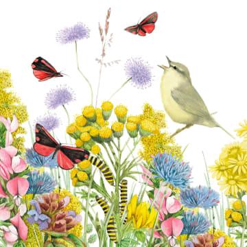 - Kaart-flowers-by-Marjolein-Bastin-vogel-bloemen-vlinders
