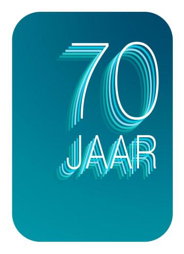 - Verjaardagskaart-70-jaar-blauw-groen
