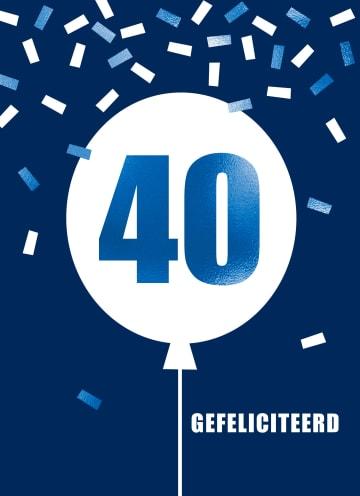 - Verjaardagskaart-leeftijden-man-40-ballon