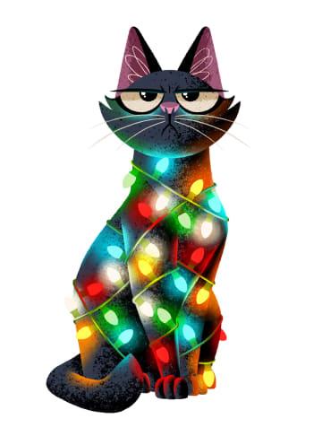- kerstkaart-grappig-kat-met-kerstlichtjes-folio
