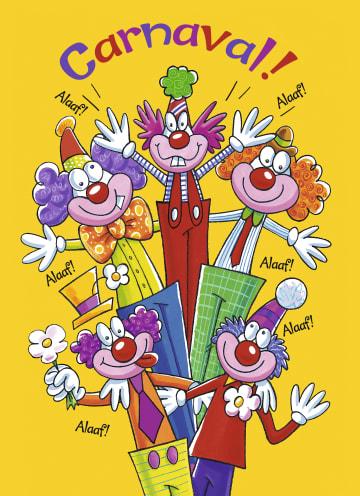 - carnavalskaart-carnaval-clowns