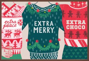 - Kerstkaart-chocolade-extra-merry-christmas