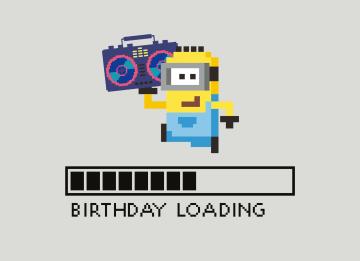 - Verjaardagskaart-minions-birthday-loading