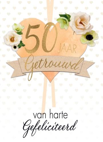 - huwelijkskaart-50-jaar-getrouwd-hart-bloemen