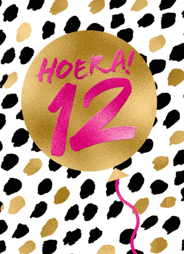 - Verjaardagskaart-Hoera-12-meisje