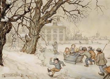 - Kerstkaart-Anton-Pieck-wintertafereel