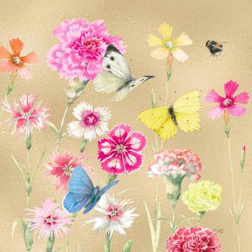 - Kaart-flowers-by-Marjolein-Bastin-goud-vlinders-blanco