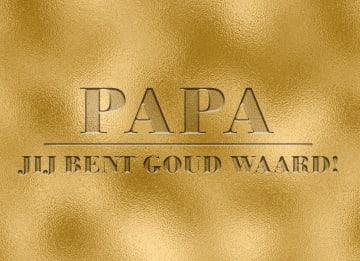 - Vaderdagkaart-Hip-Papa-jij-bent-goud-waard