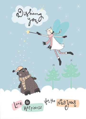 - nieuwjaarskaart-wishing-you-love-and-happiness