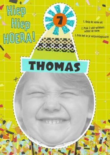 - foto-kaart-verjaardag-kids-jongen-met-feestmuts