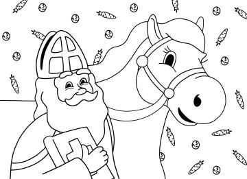 - Sinterklaaskaart-kleurplaat-Sint-en-ozosnel