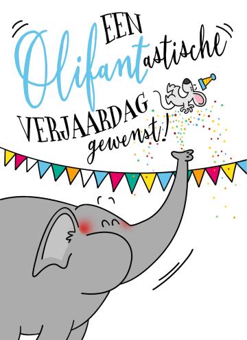 - verjaardagskaart-een-olifantastische-verjaardag-gewenst