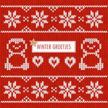 - wintermotief-rode-trui