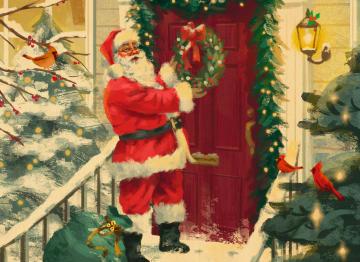 - kerstman-aan-de-deur