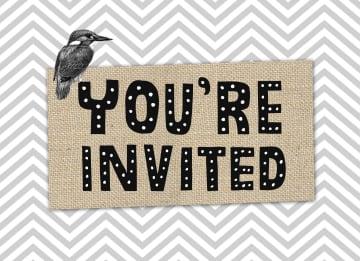 - bordje-you-are-invited-met-vogel