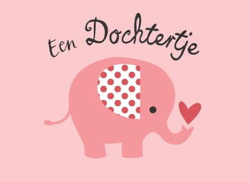 - Geboorte-Baby-Meisje-olifant