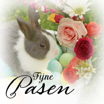- konijn-met-bloemen