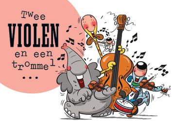 - funny-mail-twee-violen-en-een-trommel-en-een-fluit