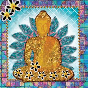 - la-mystique-gouden-buddha-bloemen-en-veren