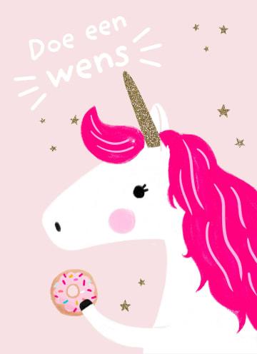 - een-wens-van-een-eenhoorn-met-donut