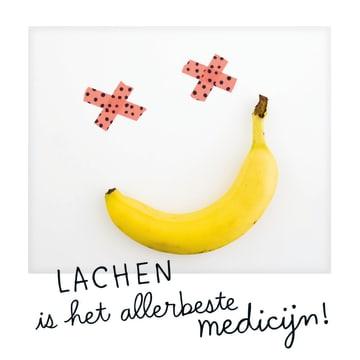 - polaroid-kaart-lachen-is-het-allerbeste-medicijn