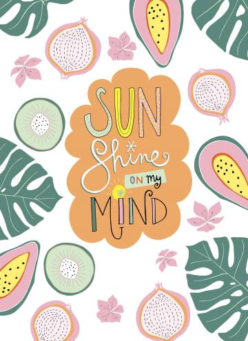 - Zomer-kaart-Hip-Sunshine-on-my-mind