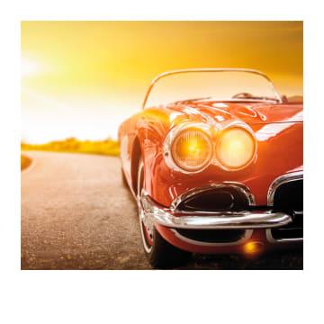 - Verjaardagskaart-man-Mooie-auto-Polaroid