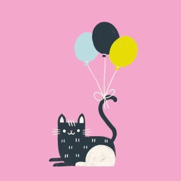 - poes-met-ballonnen
