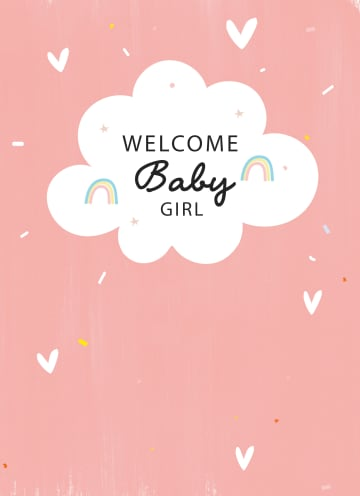 - geboorte-dochter-wolkje-welcome-baby-girl
