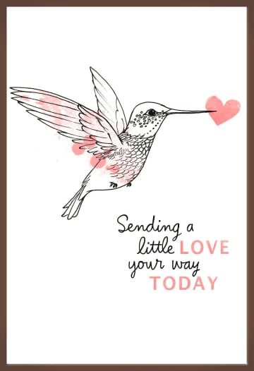 - Chocoladekaart-Kolibrie-Sending-a-little-love-your-way-today