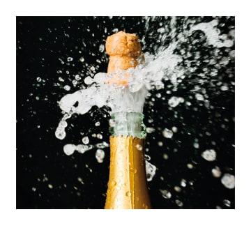 - Gefeliciteerd-kaart-champagnekurk-Polaroid-