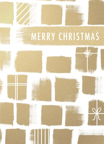 - Kerstkaart-stijlvol-Cadeaus-met-goudfolie