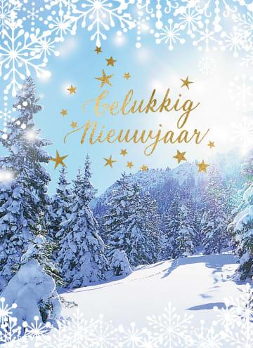 - nieuwjaarskaart-klassiek-sneeuwlandschap