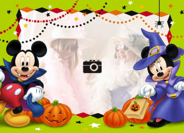 - fotokaart-halloween-mickey-en-mini-mouse