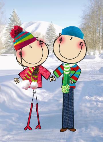 - twee-poppetjes-staan-in-de-sneeuw