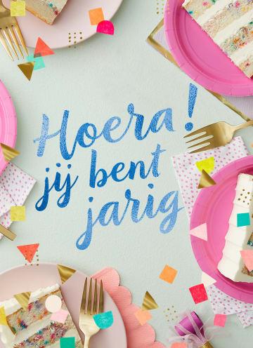 - Verjaardagskaart-tiener-meisje-Hoera-jij-bent-jarig