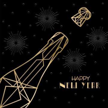 - nieuwjaarskaart-zakelijk-champagne-fles-kurk