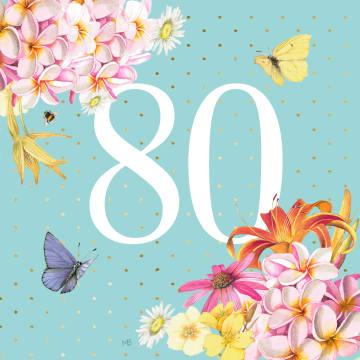 - Kaart-flowers-by-Marjolein-Bastin-verjaardagskaart-80-jaar
