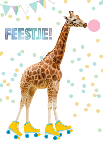 - het-is-feest-met-giraffe-met-rolschaatsen