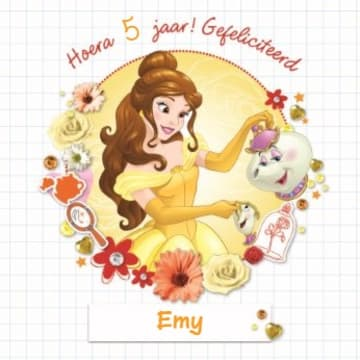 - disney-princess-belle-hoera-gefeliciteerd