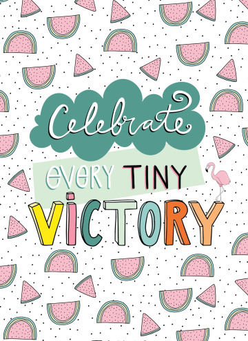 - Complimentkaart-Celebrate-every-tiny-victory