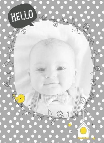- fotokaart-hello-klein-baby-kindje