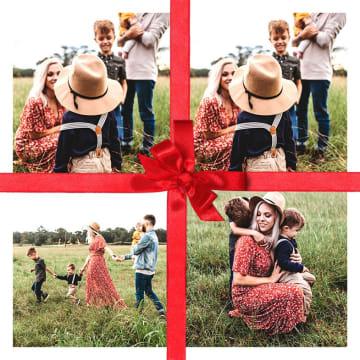 - een-mooie-strik-op-de-kerst-fotokaart