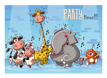 - dansende-dieren-party-time