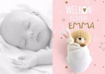 - fotokaart-baby-forever-friends-roze