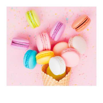 - Verjaardagskaart-macarons-Polaroid