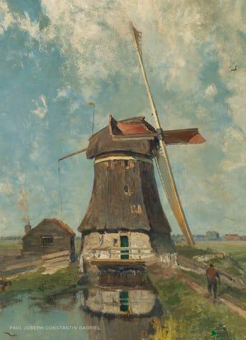 - studio-art-kaart-blanco-met-een-nederlandse-molen