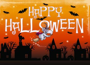 - Heks-op-bezemsteel-voor-Halloween