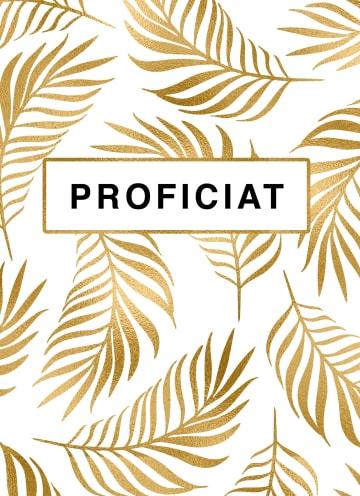 - Felicitatie-kaart-man-vrouw-proficiat-gouden-bladeren