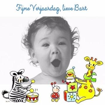 - fotokaart-vierkant-fijne-verjaardag-zebra-en-giraffe